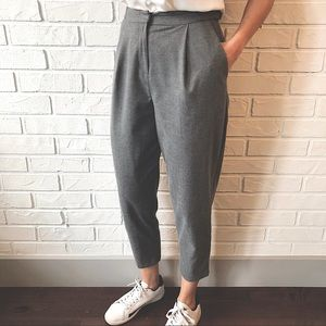 TOPSHOP high waist tailored peg trousers
